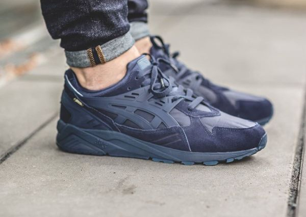 e81edeff Asics Gel Kayano Trainer Gore Tex Navy (1) | Life is short. Buy the ...