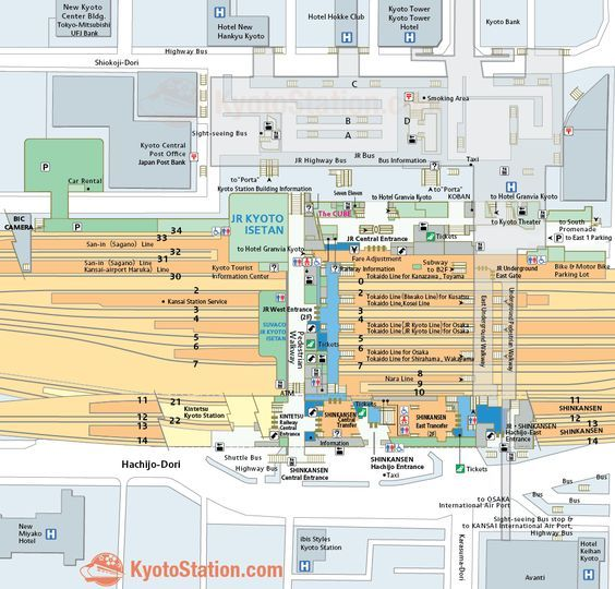 Kyoto Station Map japan Pinterest Kyoto and Japan