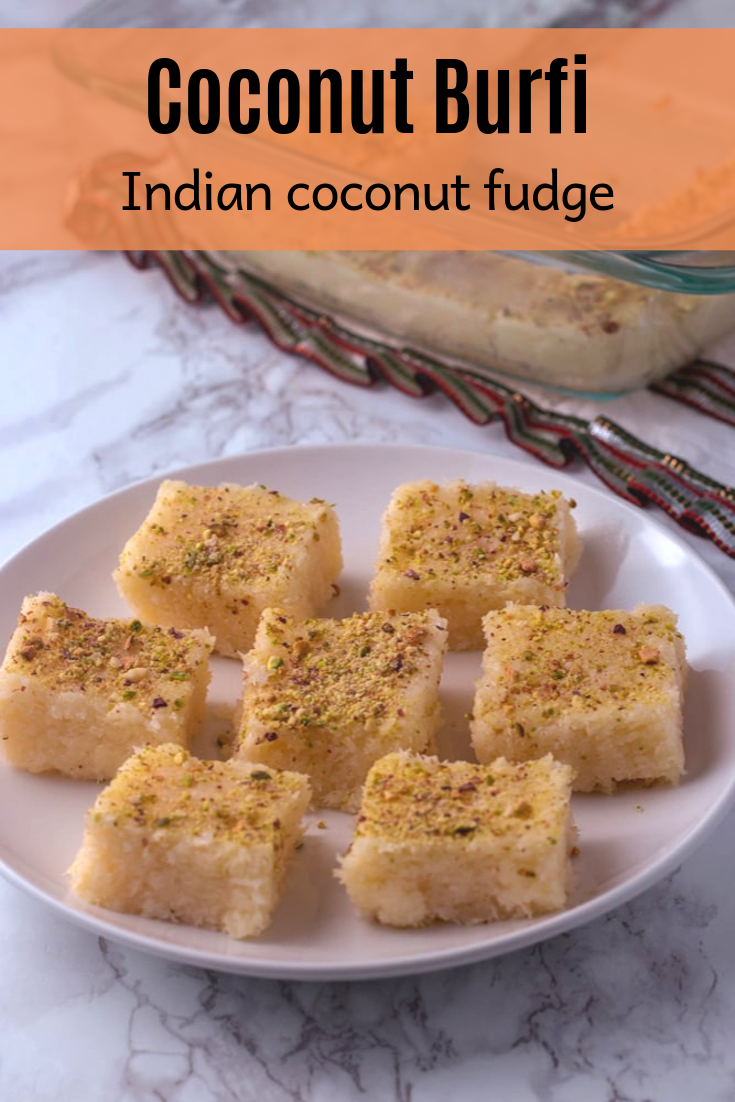 Coconut Burfi With Condensed Milk Spice Up The Curry Recipe Burfi Recipe Recipes Condensed Milk Recipes
