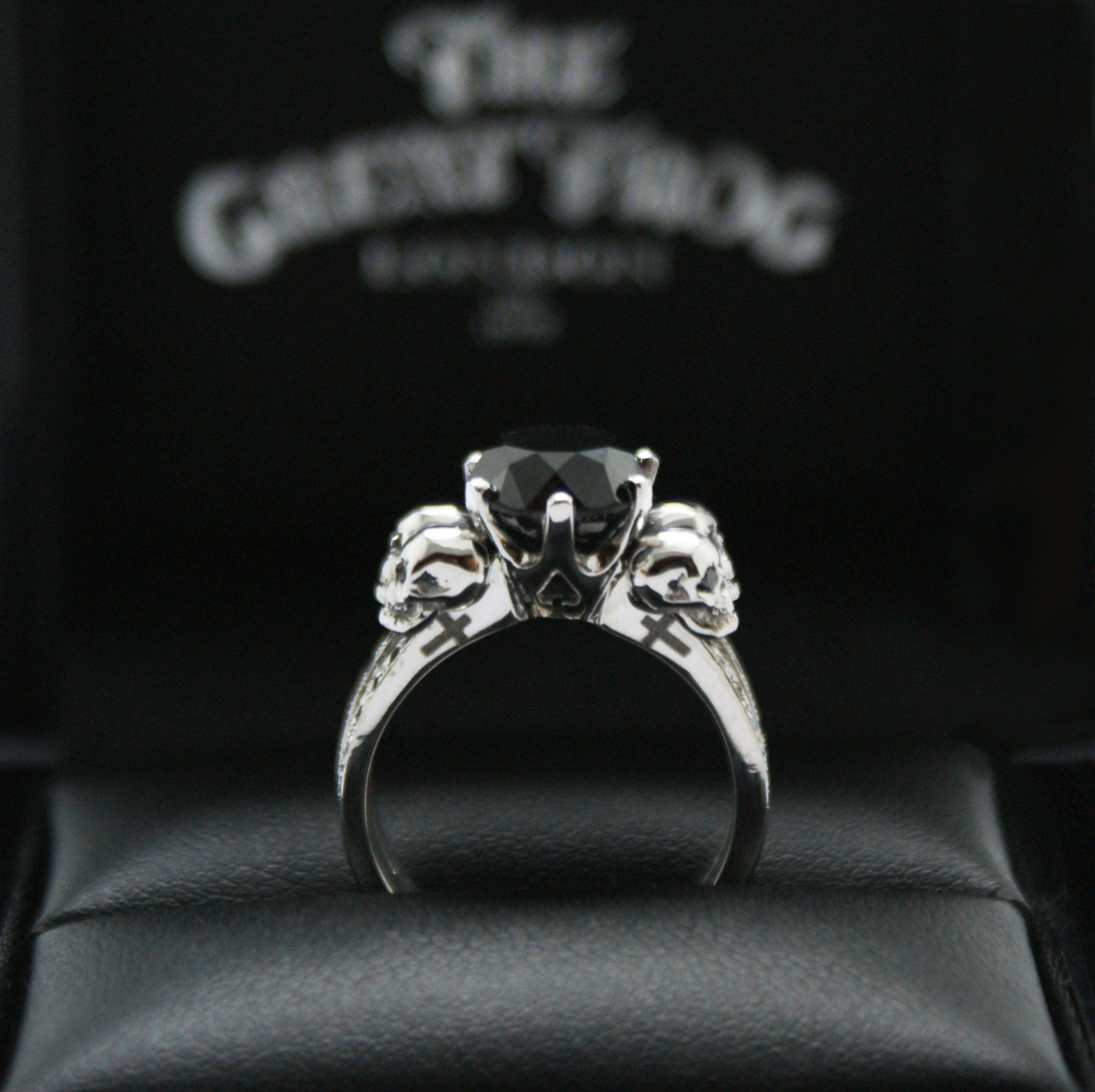 kat von ds engagement ring the great frog london did such a awesome job on - Skull Wedding Rings