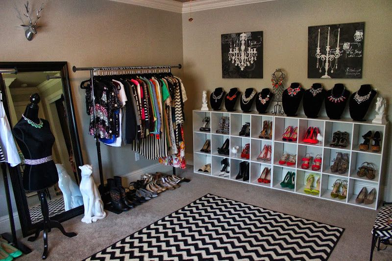 Turning A Bedroom Into Winsome Closet Apartment Featuring Strong Iron Hanging Rail For Dress And Standing Wooden Frame