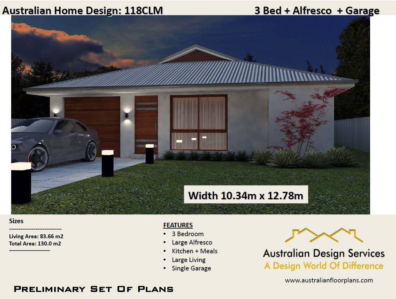 Modern house plans 130m2 3 bedroom garage 3 bed room house plans home plans for sale 3 bedroom design a home by australianhouseplans on etsy
