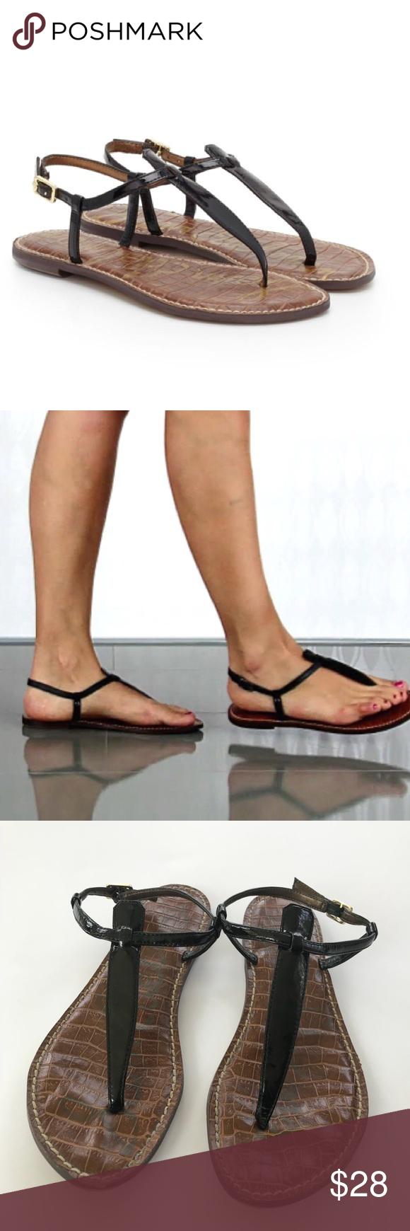 5388fd150dff Sam Edelman Gigi Black Patent Thong Sandals Sz 8 The iconic Gigi Thong  Sandal is a
