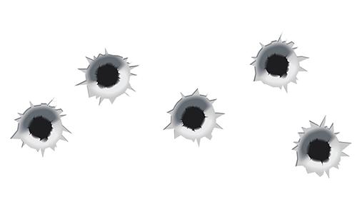 Bullet Holes in Chat Box | FaceBook-Symbols-Emoticons