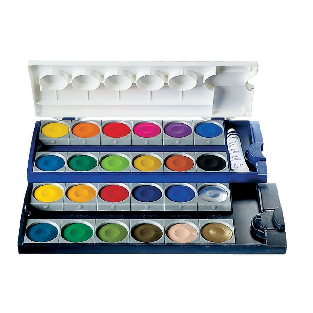 Pelikan Opaque Pan Watercolor Set 24 Pans Watercolor Paint Set