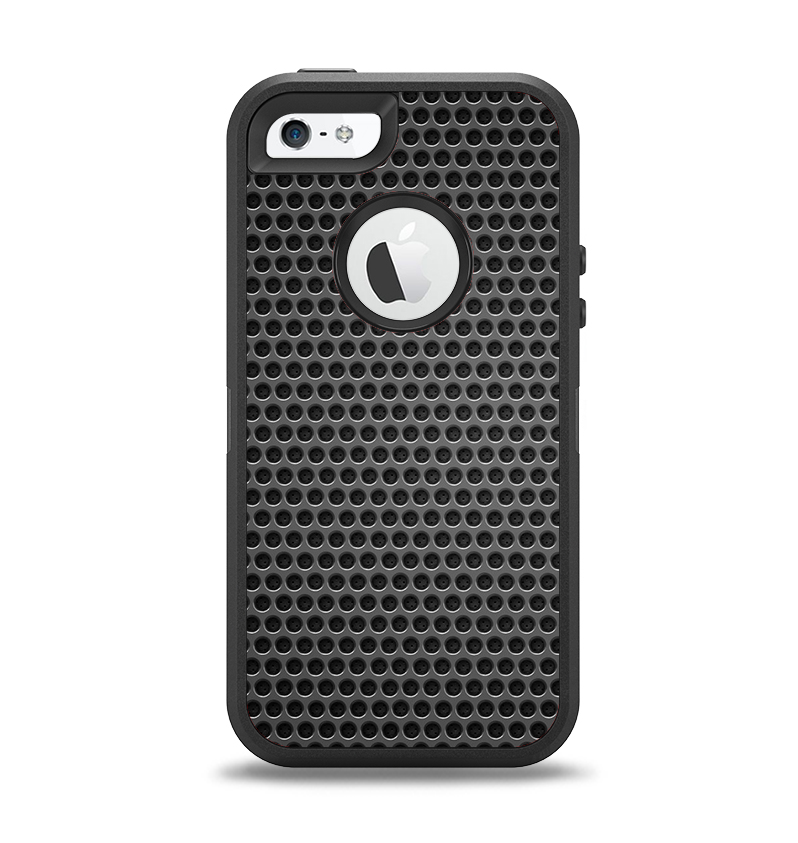 The Metal Grill Mesh Apple iPhone 5-5s Otterbox Defender Case Skin Set