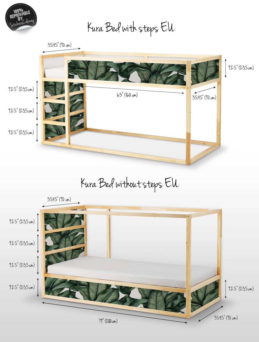 Decals For Kura Bed Ikea Banana Leaf Bed Sticker Set Pack Jacks  # Muebles Hoja De Banano