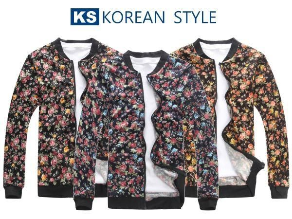 Floral Zip Jacket - K-Style | YESSTYLE