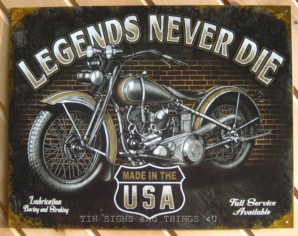 """Harley Davidson Motorcycle Garage Parking Logo Retro Metal Tin Sign 8x12/"""" NEW"""
