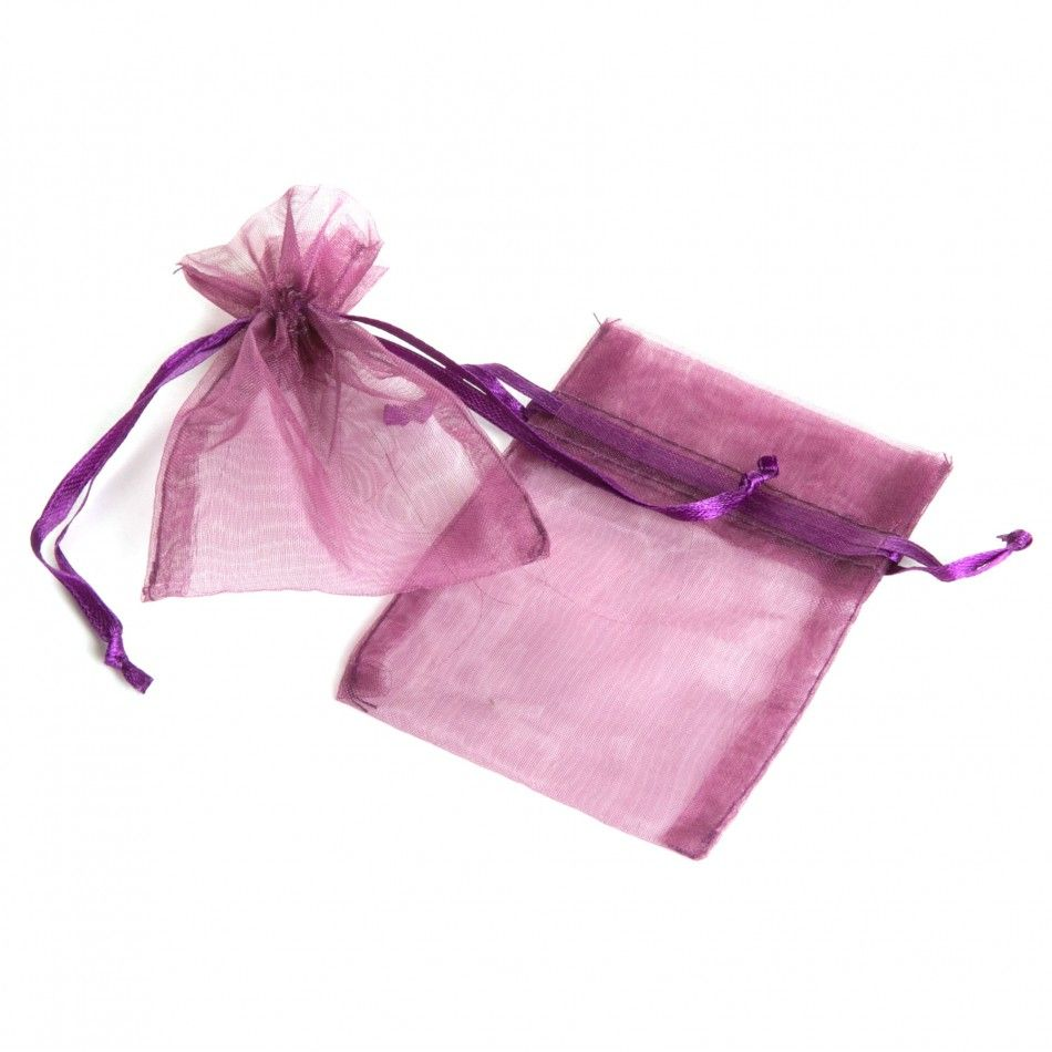 Plum Purple Sheer Organza Favor Bags - 3 W x 4 H [403811 ...