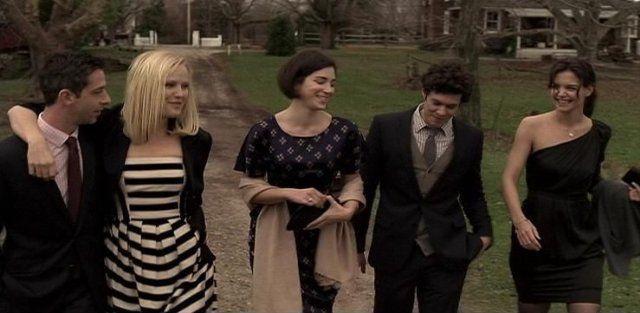 Still of Katie Holmes, Malin Åkerman, Adam Brody and Jeremy Strong in The Romantics