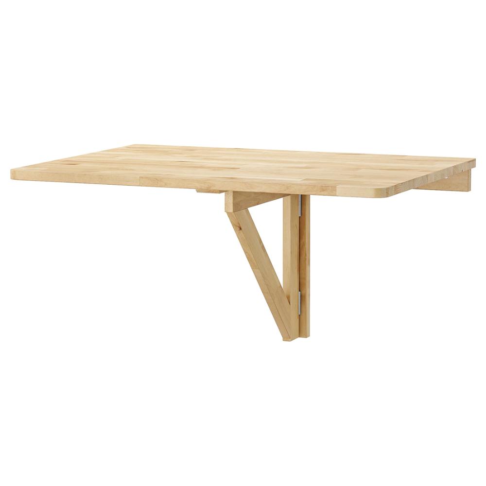 Tavolo Ribaltabile A Parete norbo tavolo ribaltabile da parete - betulla 79x59 cm nel