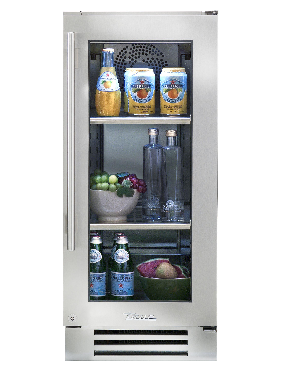 "True 15"" Refrigerator Stainless Glass Door"