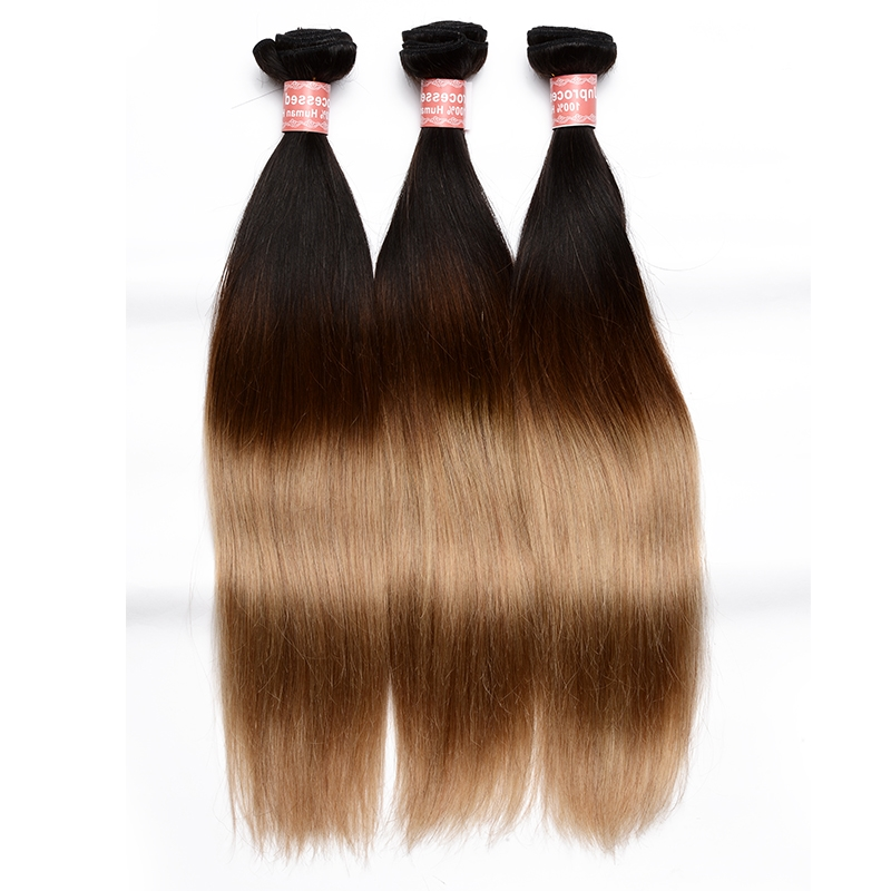 37.20$  Buy now - https://alitems.com/g/1e8d114494b01f4c715516525dc3e8/?i=5&ulp=https%3A%2F%2Fwww.aliexpress.com%2Fitem%2F7A-Ombre-Brazilian-Hair-1-Pc-Ombre-Human-Hair-Extensions-Brazilian-Virgin-Hair-Straight-1B-4%2F32670622250.html - 7A Ombre Brazilian Hair 1 Pc Ombre Human Hair Extensions Brazilian Virgin Hair Straight 1B/4/27 3 Tone Ombre Hair Weave 37.20$