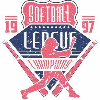 Fastpitch Softball Champion Shirt Design Vector
