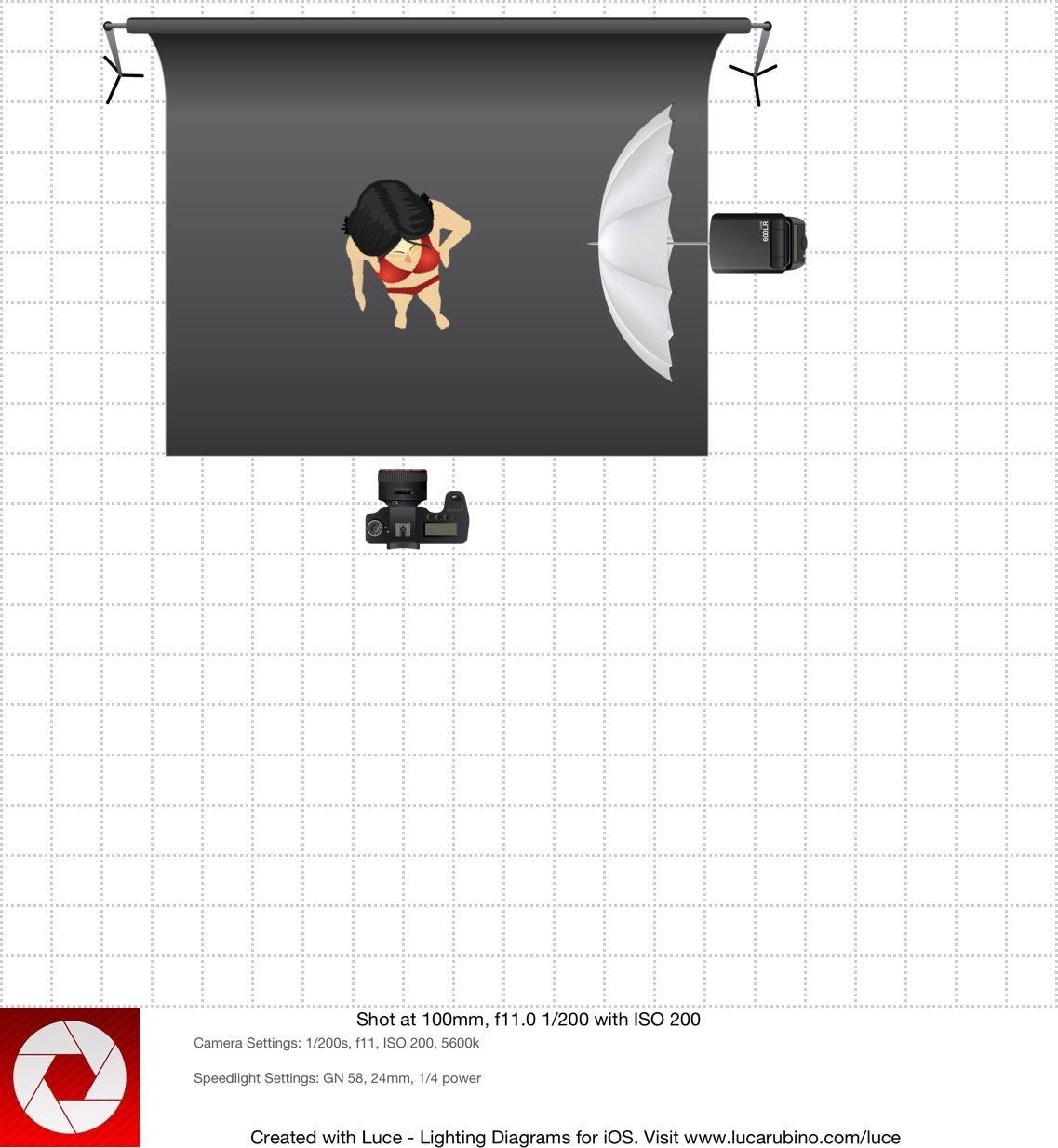 Bodyscape Simple Lighting Camera Settings  1  200s  F11  Iso 200  5600k Speedlight Settings  Gn