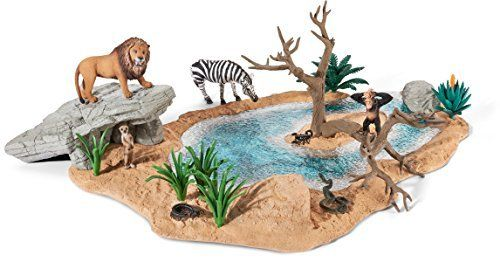 Schleich 42258 Wild Life Watering hole Amazon.co.uk