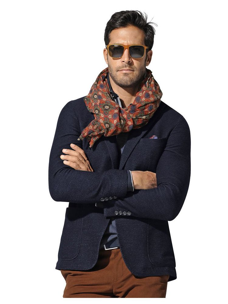 mode hommes blazer 2 boutons bleu marine pantalon polo manches longues foulard ceinture. Black Bedroom Furniture Sets. Home Design Ideas