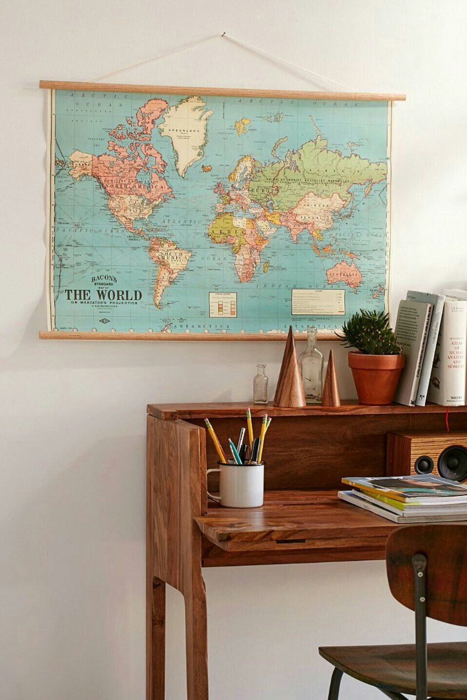 Pin by surftumblrstheticyle on surfer tumblr boys bedroom vintage teen desk study room hanging world map art print gumiabroncs Image collections