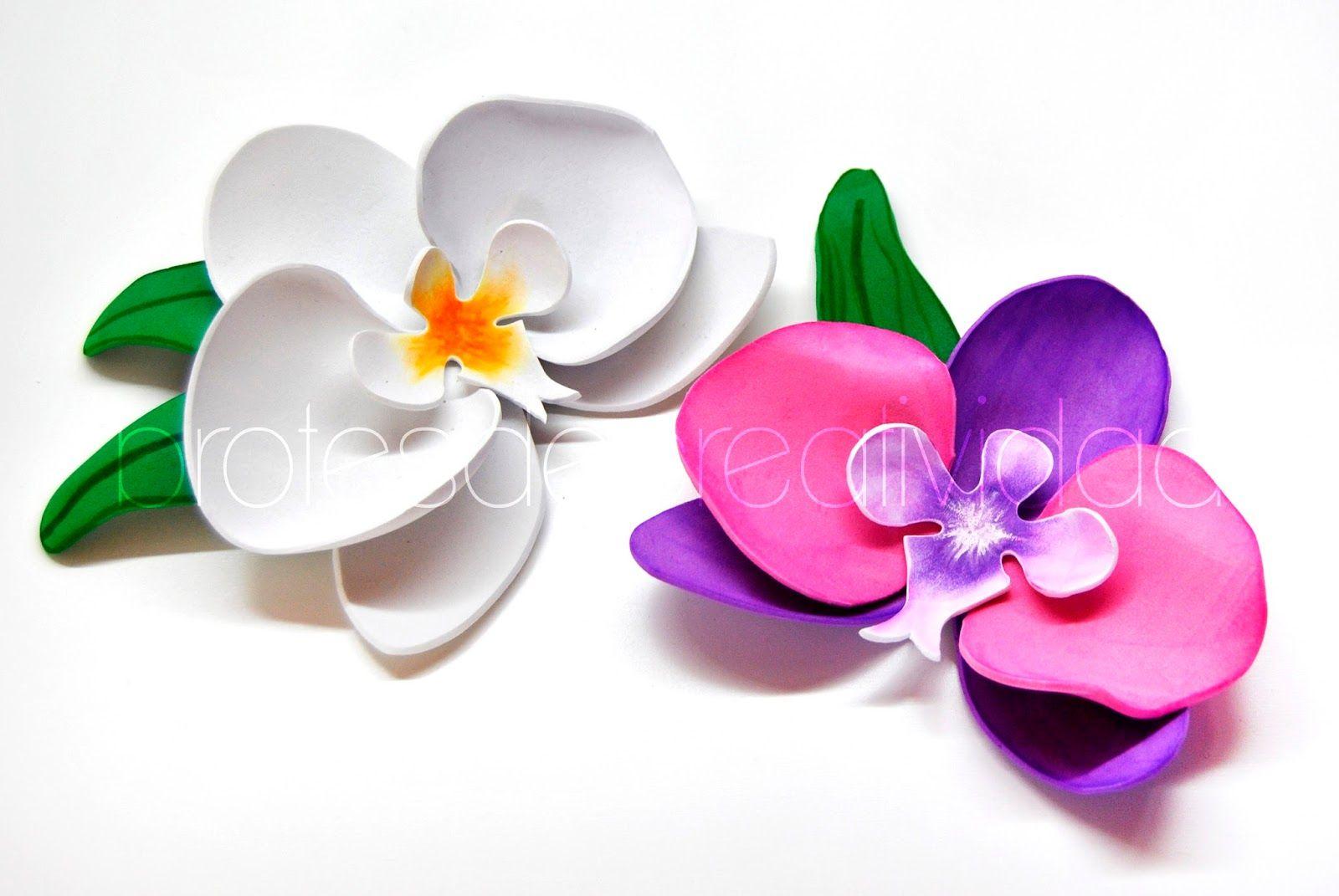 Tutoriales Para Hacer Flores Como Hacer Orquideas De Goma Eva - Fotos-de-goma-eva