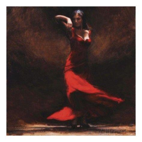 Passion of Flamenco Print by Amanda Jackson at AllPosters.com