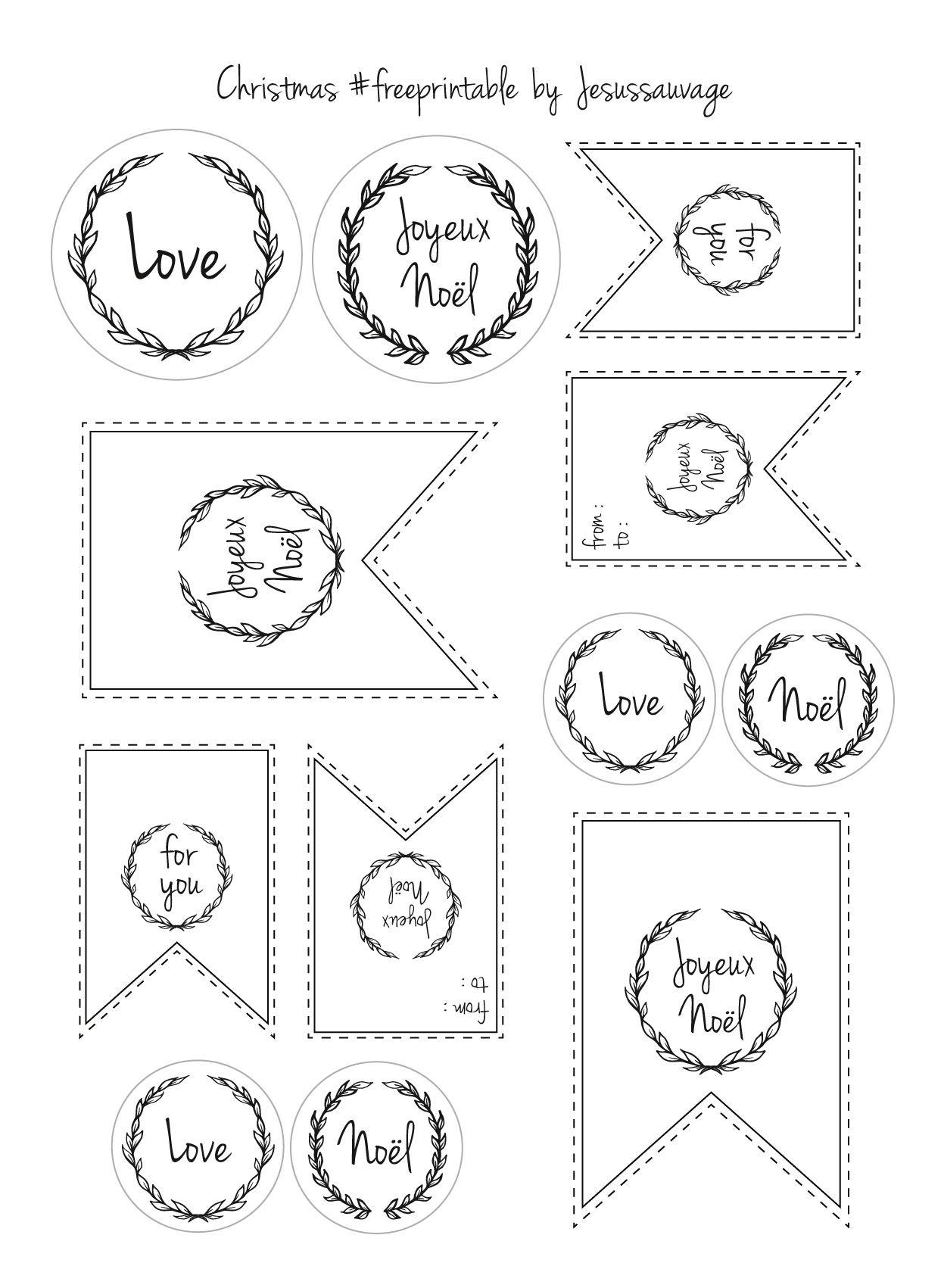 Extrem Les étiquettes gratuites de Noël à imprimer | Joyeux noël, Joyeux  DD35