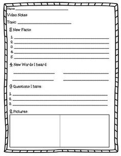 Here Are Three Different Forms For Your Students To Take Notes On Educational Videos You Watch In Class Video Notes Note Taking Strategies Science Notes