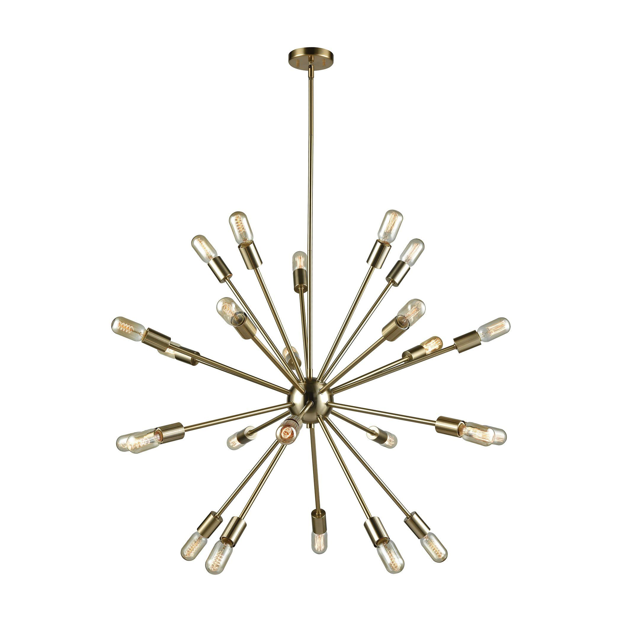Delphine 24 light chandelier in satin brass 4624524 products delphine 24 light chandelier in satin brass 4624524 arubaitofo Image collections