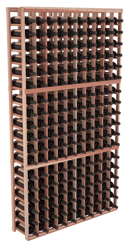 Fait A La Main En Bois 10 Colonne 180 Bouteille Standard Cave A Vin Kit En Redwood Premium 13 Combinaisons De Taches A Choisir Cave A Vin Etageres A Bouteilles De