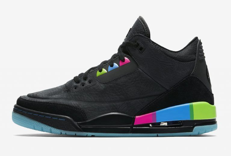 "b05fe1994a08 2018 Air Jordan 3 ""Quai 54"" Black Electric Green-Infrared 23-Black  AT9195-001"