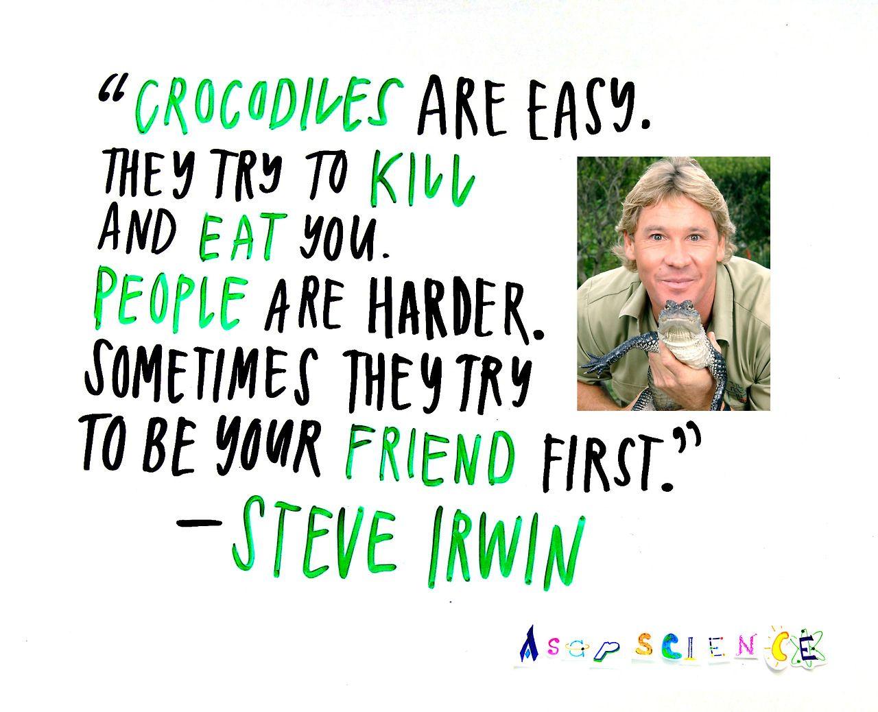 Asapscience Inspirational Words Of Wisdom Steve Irwin Inspirational Quotes