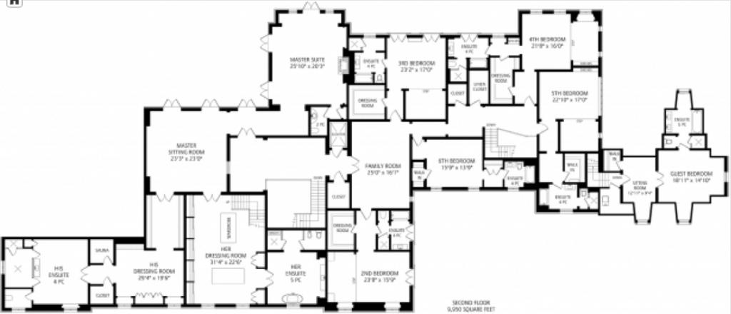 Location 10 High Point Road Toronto Ontario Canada Square Footage 33 000 Bedrooms Bathrooms 10 Bedrooms 14 Bathroo Mega Mansions Mansions Floor Plans