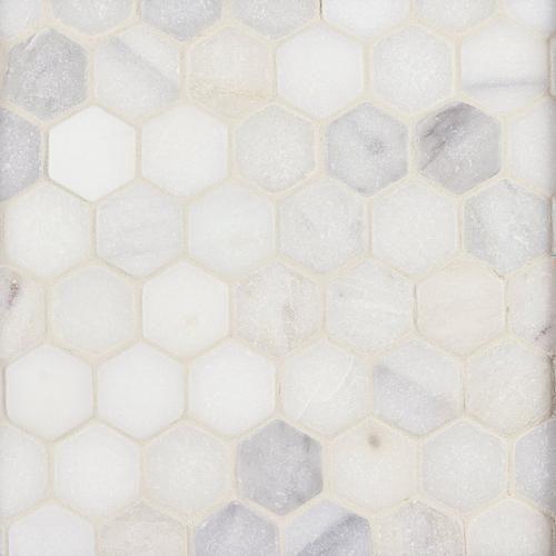 Carrara White Hexagon Marble Mosaic Floor Decor In 2020 Marble Mosaic Floor Hexagon Tile Bathroom Floor Marble Tile Floor