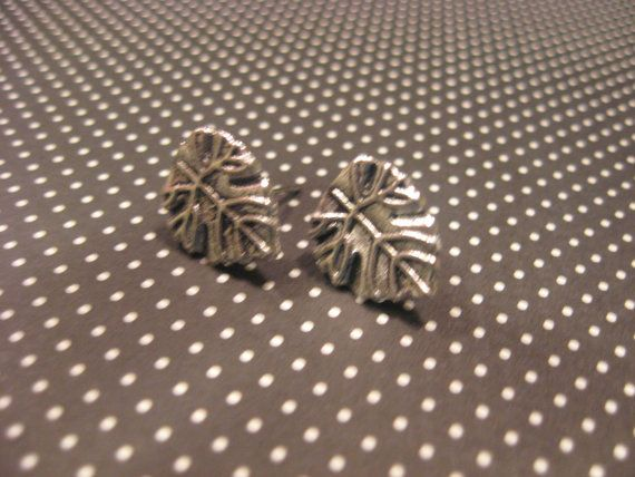 Silver Leaf Earring Set