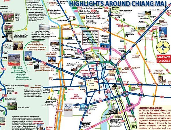 outer city road map | Thailand Travel in 2019 | Chiang Mai, Thailand ...
