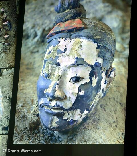 Xian Terracotta Army A Color Painted Head WwwChinaMemoCom