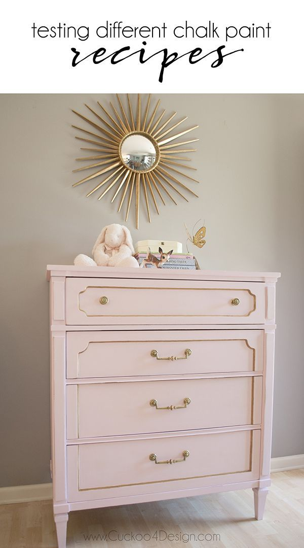 DIY chalk paint try-outs Meubles