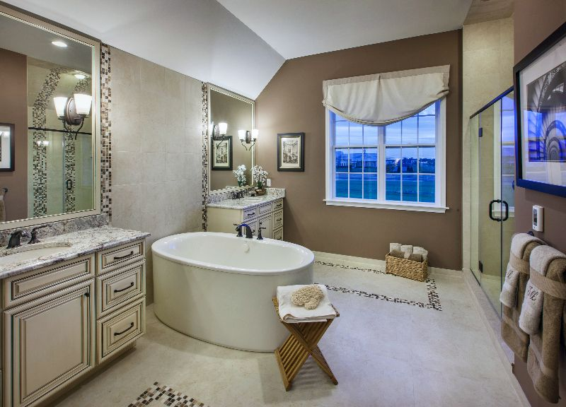 Soak In A Stand Alone Bath In This Beautiful Master Bathroom Toll Impressive Bathroom Design Nj Model