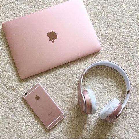 Apple Rosegold Ipad Iphone6 Headphones Via Headphones On Instagram Best Sound Quality Audiophile Headphones And Hi Rose Gold Aesthetic Gold Apple Iphone