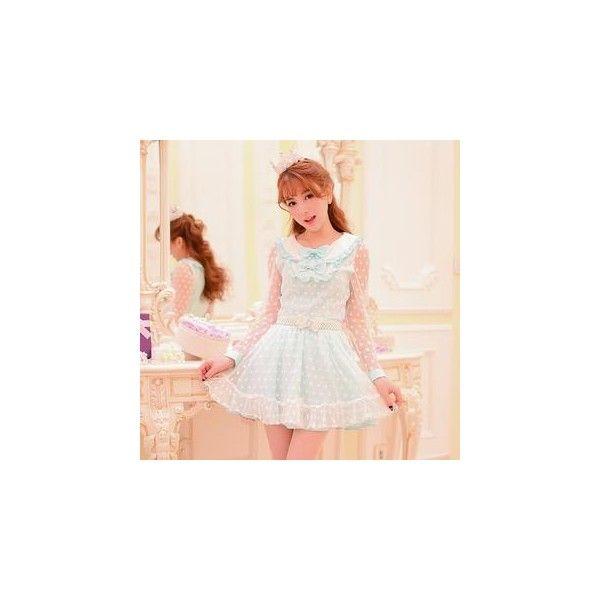 Lace Panel Chiffon A-Line Skirt ($27) ❤ liked on Polyvore
