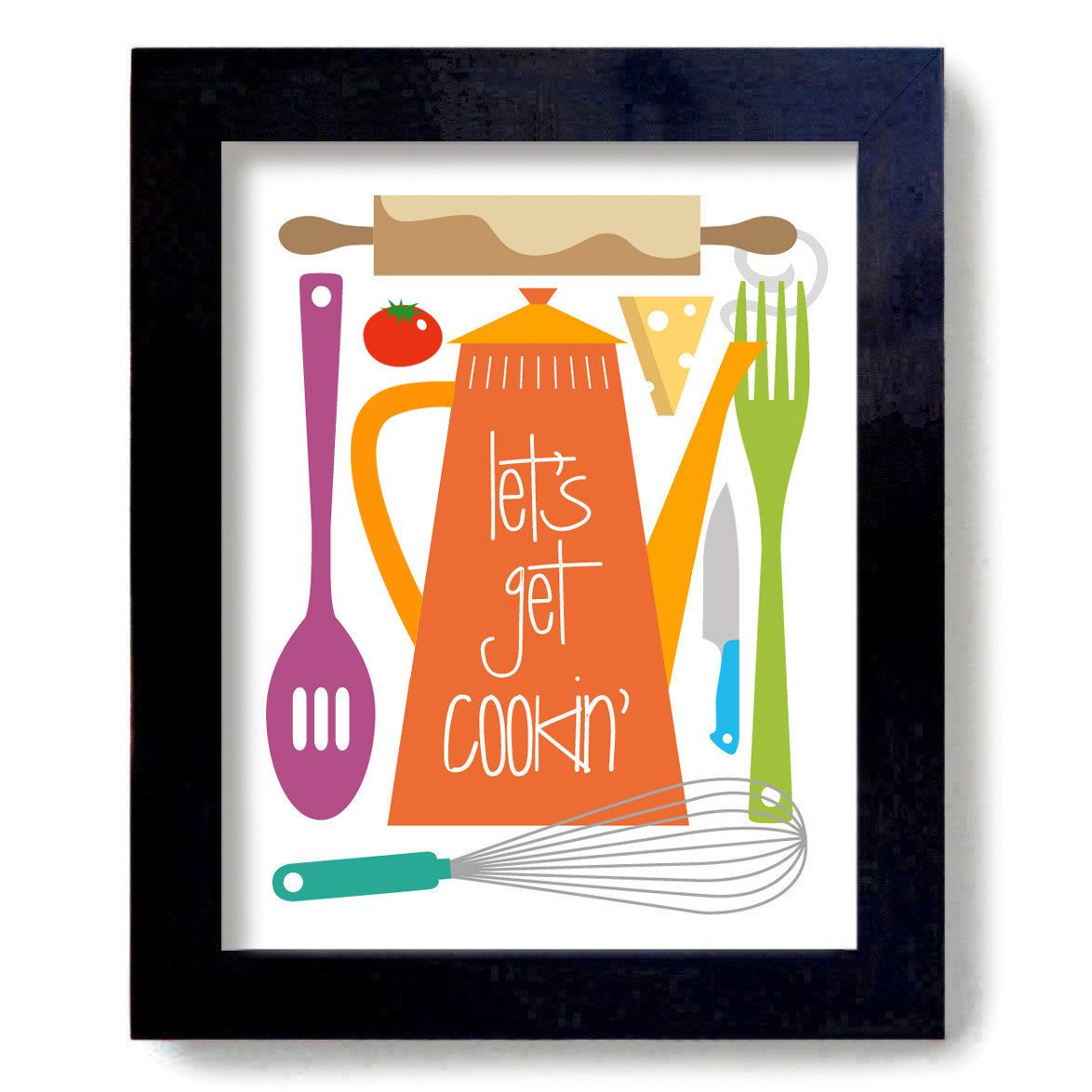 Kitchen Art Print Julia Child Cooking Quote Art Print. $16 ...