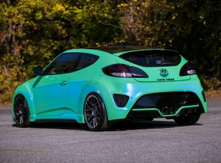 ombre painted car cool cars trucks pinterest cars hyundai veloster and veloster turbo. Black Bedroom Furniture Sets. Home Design Ideas