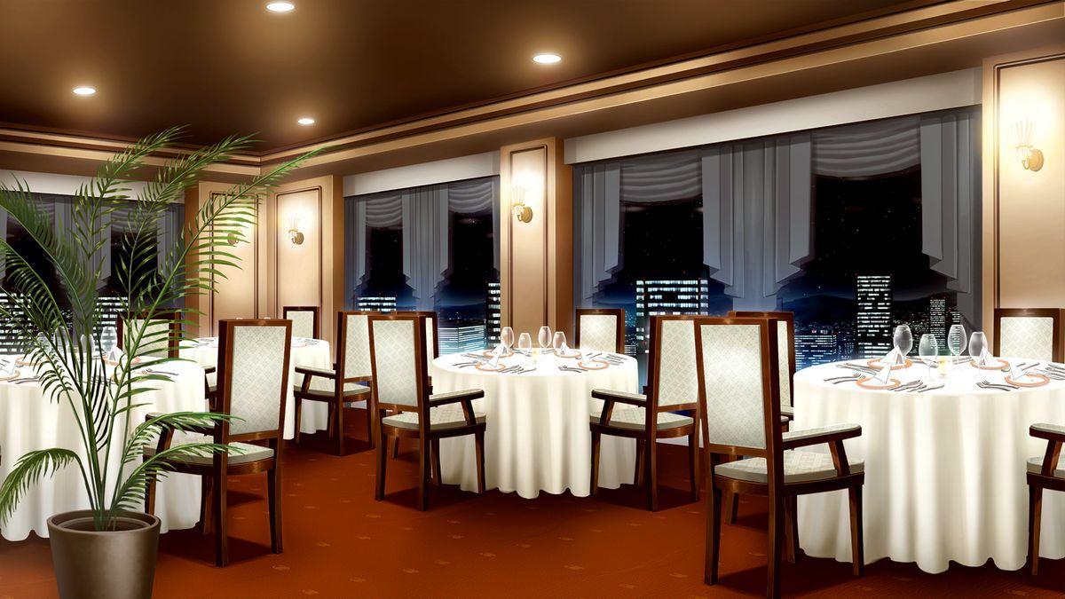 Restaurante Cenário anime, Fundo de animação, Interiores
