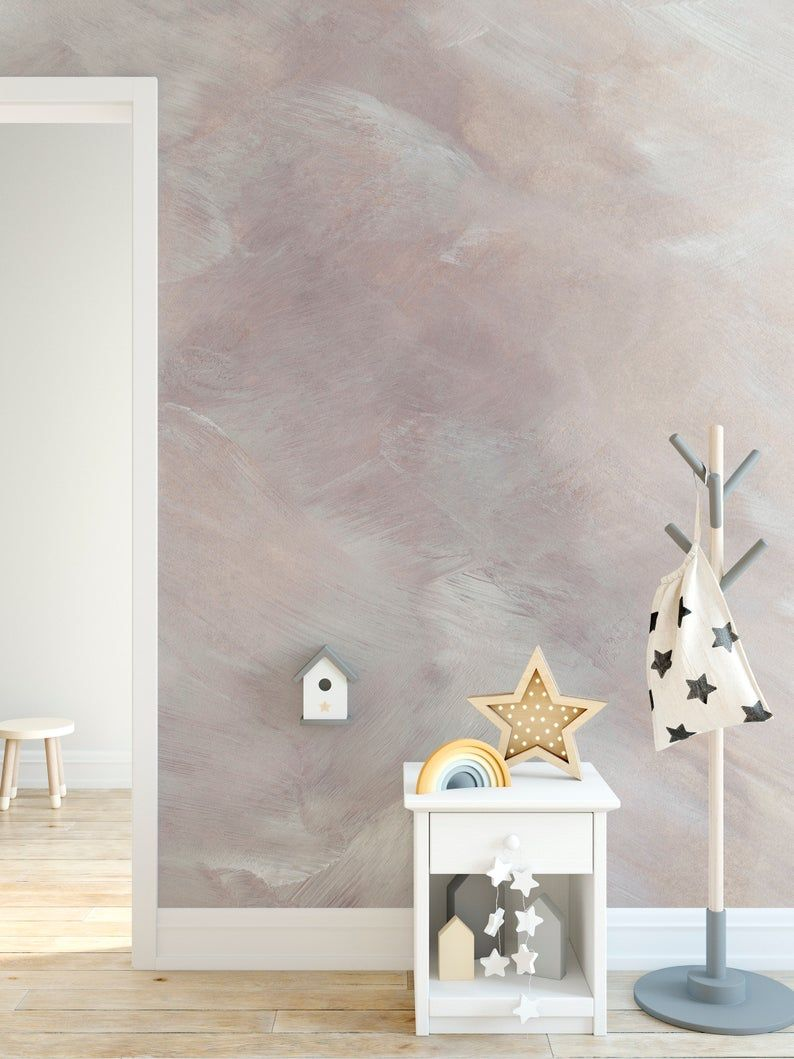 Minimalistic Brush Strokes Texture Large Mural Self Adhesive Wallpaper Natural Abstract Watercolor Peel And Stick Removable M005 Large Mural Textured Walls Self Adhesive Wallpaper