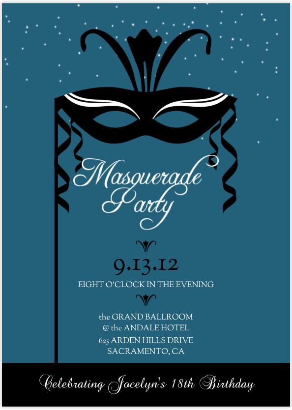 Masquerade Party Invitation Mardi Gras Party Party Invitations – Masquerade Party Invitations Free
