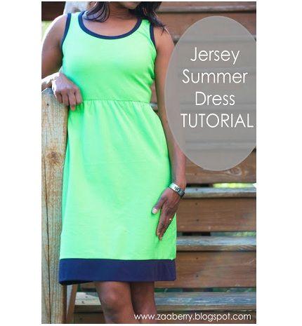 Tutorial: Jersey Summer Dress