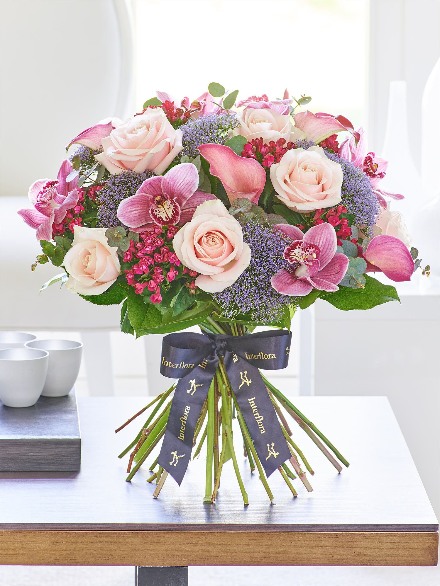 Luxury Lily and Orchid Blush Pink Hand-tied - Interflora | flowers ...