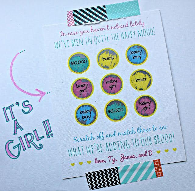 Gender Reveal Par Tay Gender Reveal Cards Gender Reveal Baby Shower Gender Reveal