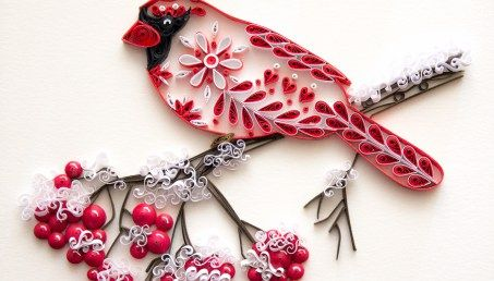 Quilled Northern Cardinal