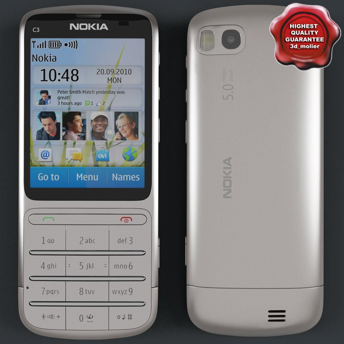 Nokia C301 metall 3D Model AD ,NokiaModelmetall